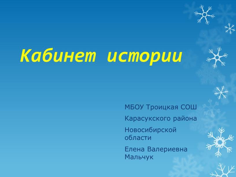 Кабинет истории МБОУ Троицкая СОШ
