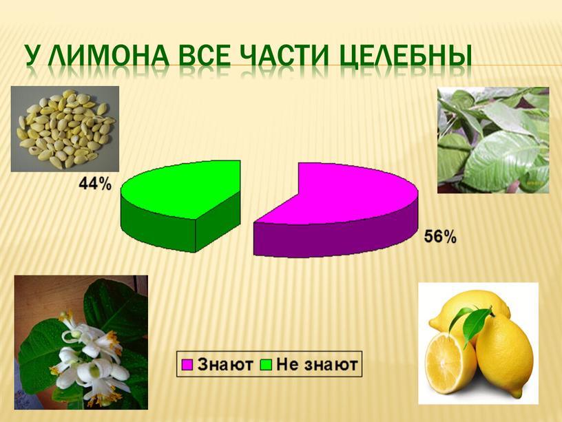 У лимона все части целебны