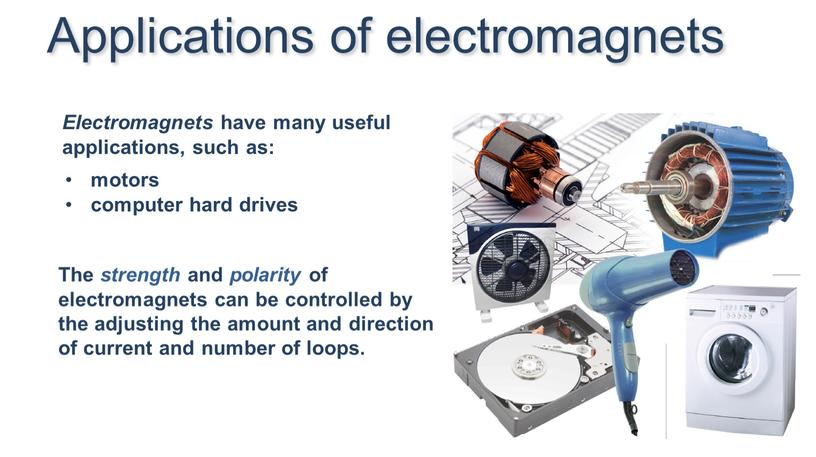 Electromagnets have many useful applications, such as: