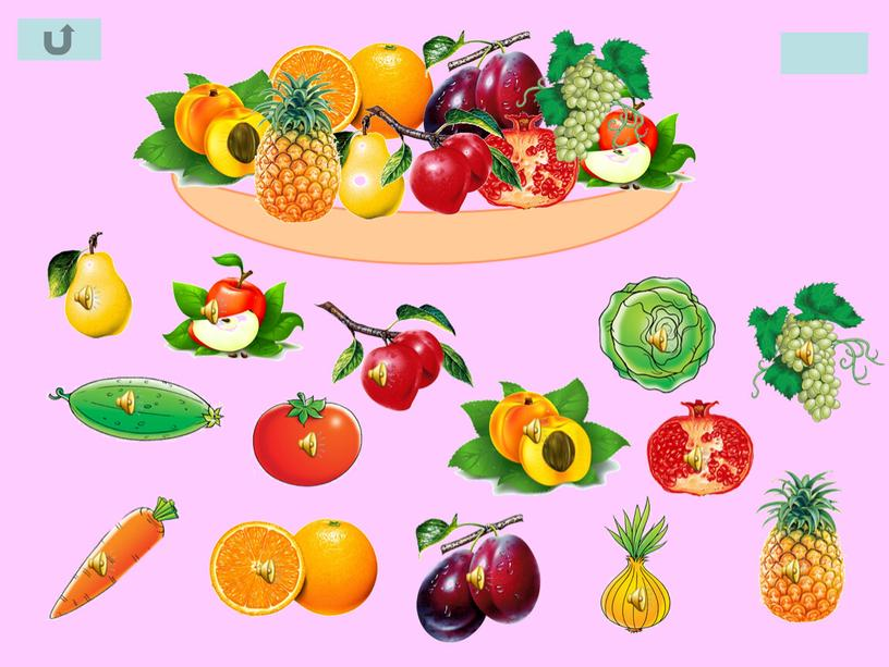 Презентация Собери фрукты в вазу