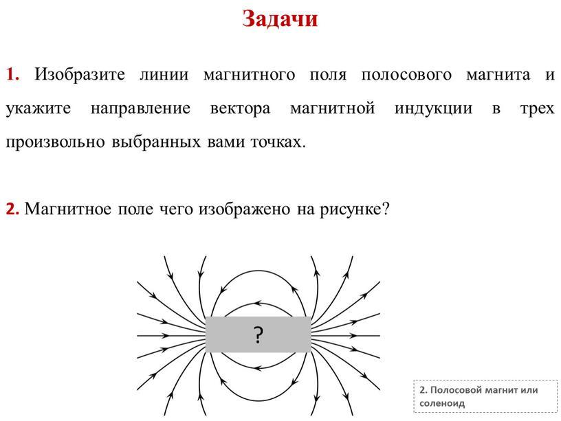 Задачи 2. Полосовой магнит или соленоид 1
