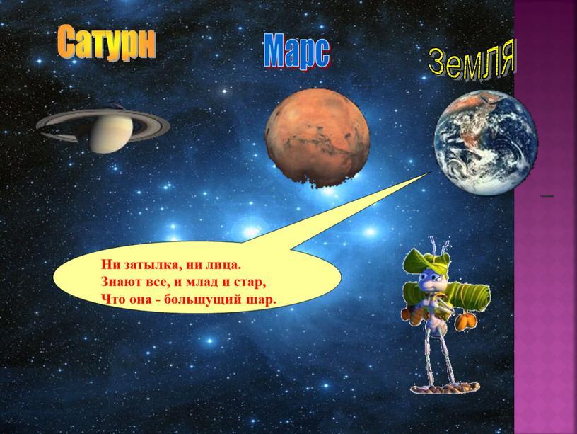 Марс Земля Сатурн Ни затылка, ни лица