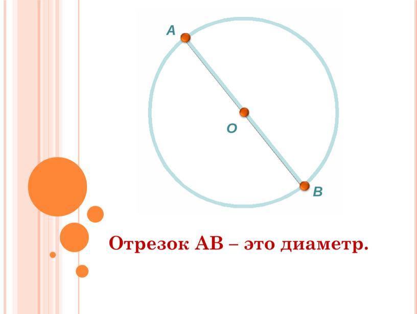Отрезок АВ – это диаметр.
