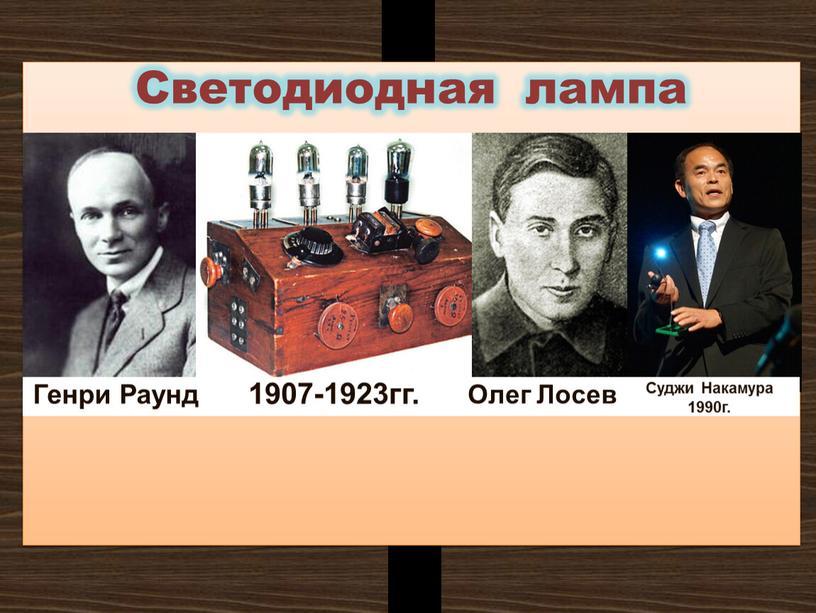 Светодиодная лампа Олег Лосев 1907-1923гг