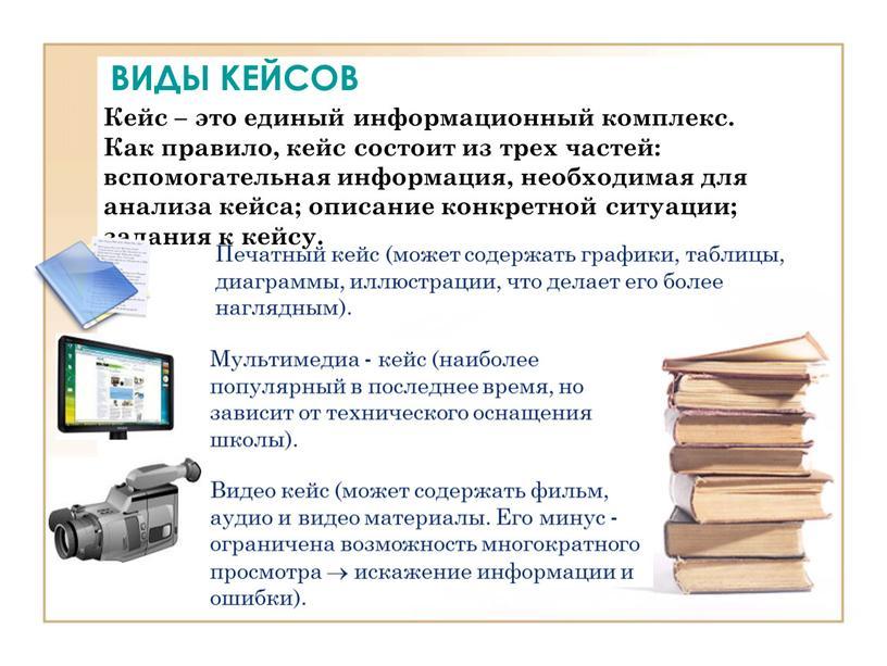ВИДЫ КЕЙСОВ Кейс – это единый информационный комплекс