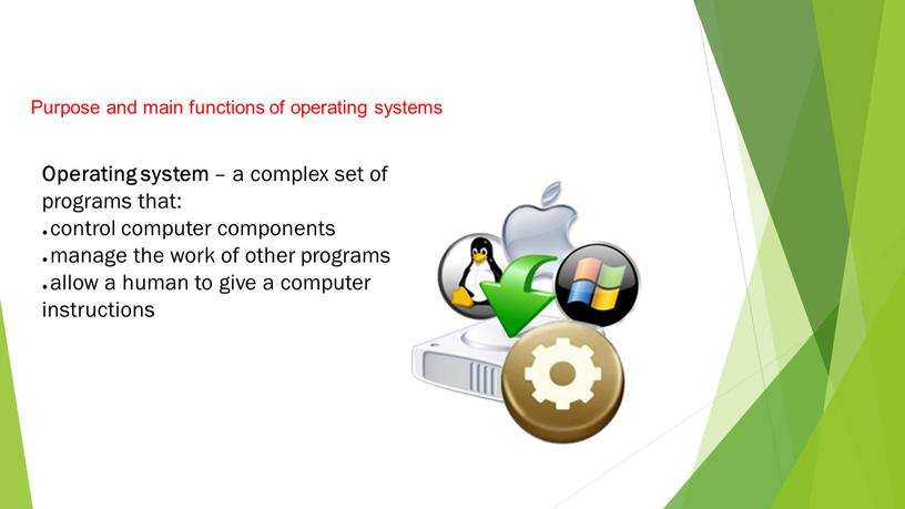 Purpose and main functions of operating systems