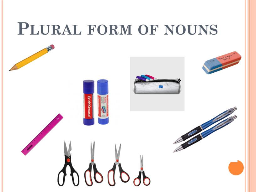 Plural form of nouns
