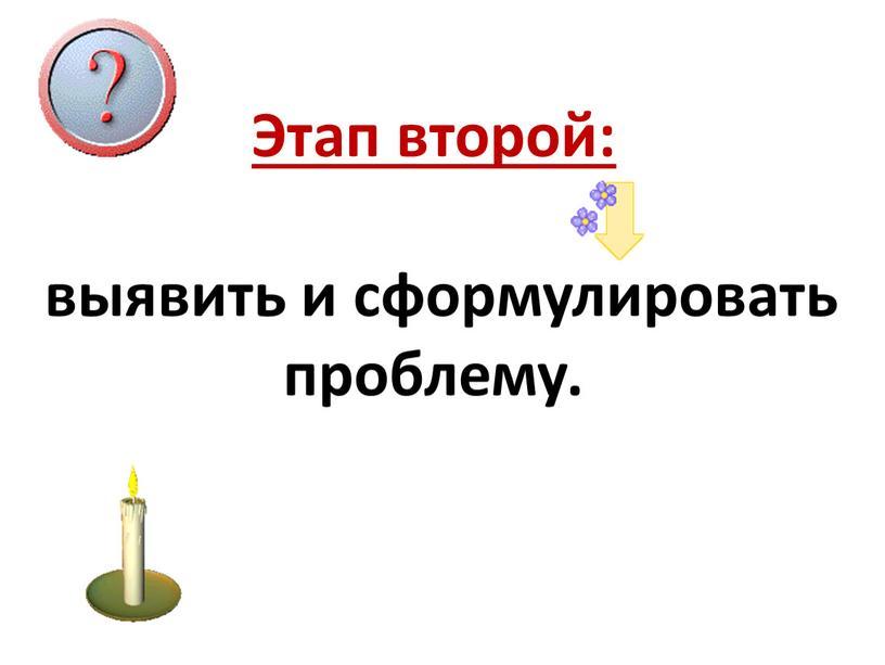 Этап второй: выявить и сформулировать проблему