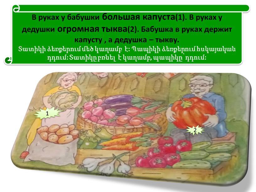 В руках у бабушки большая капуста(1)