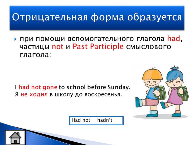 Past Participle смыслового глагола: