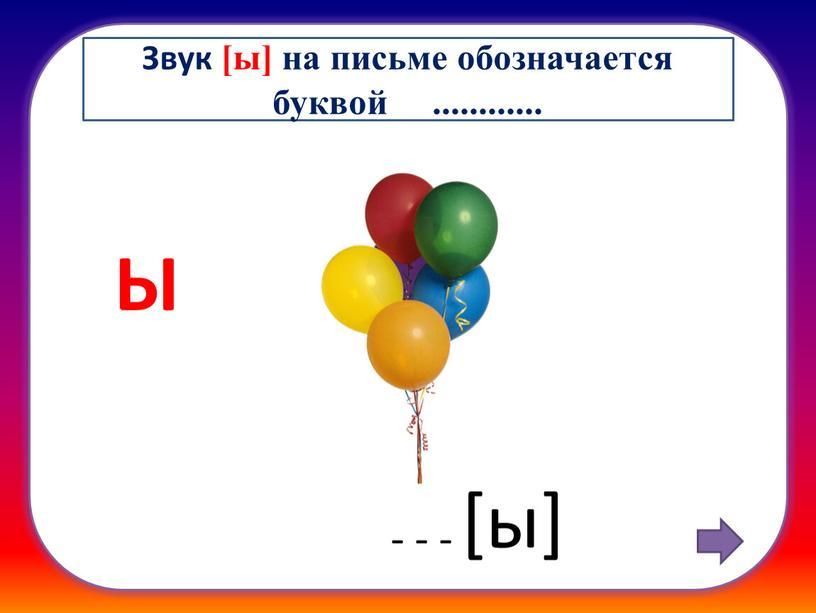 Ы [ы] - - - Звук [ы] на письме обозначается буквой