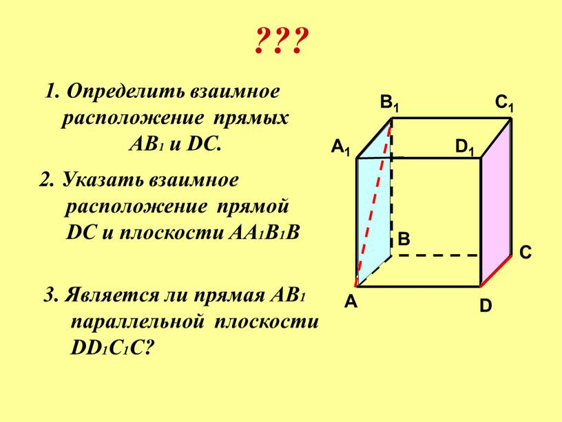 Определить взаимное расположение прямых