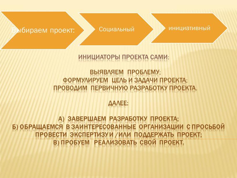 Инициаторы проекта сами: