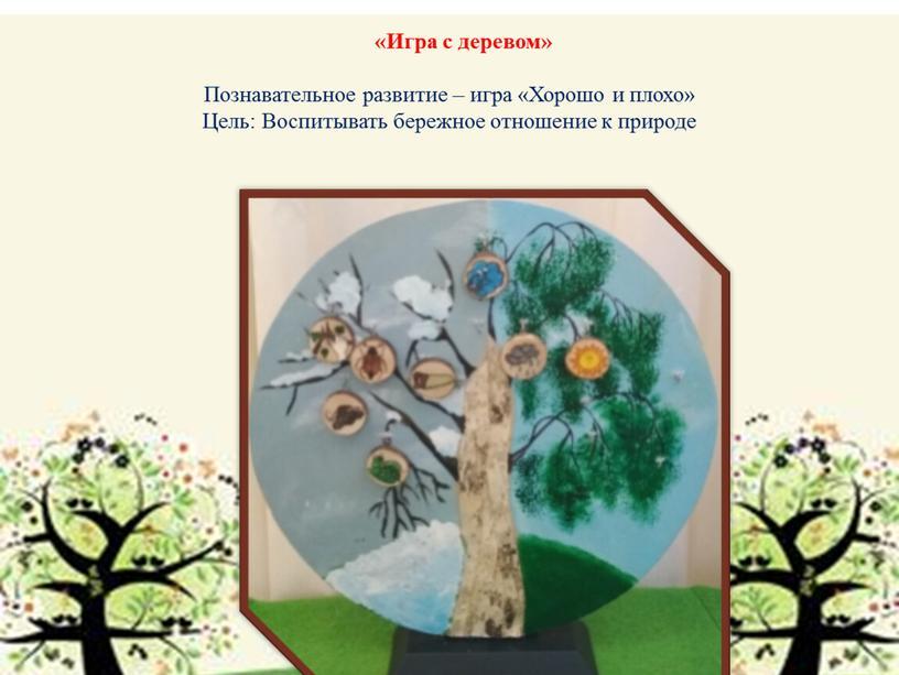 Игра с деревом» Познавательное развитие – игра «Хорошо и плохо»