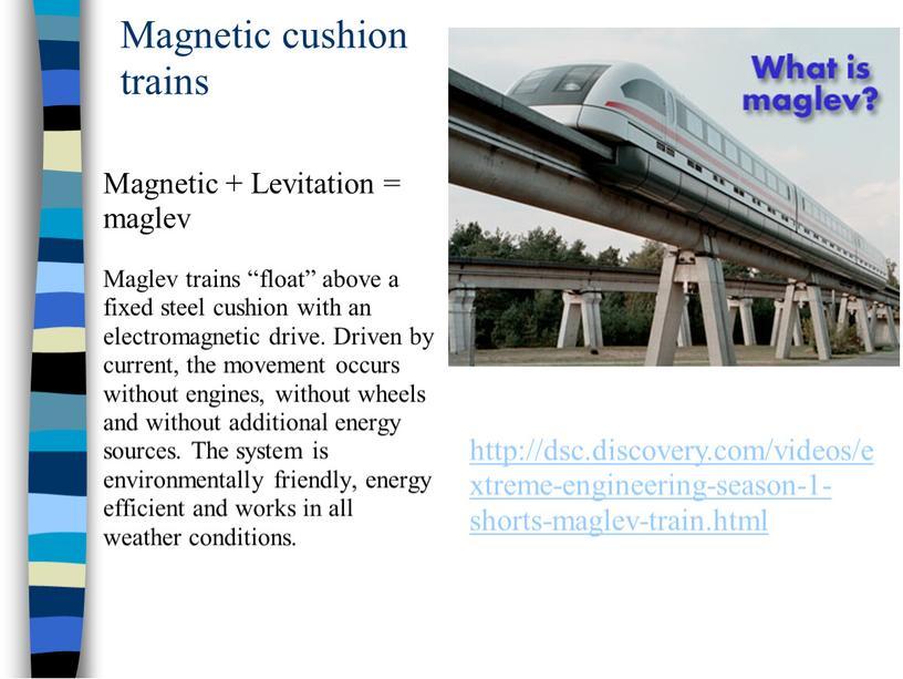 Magnetic cushion trains Magnetic +