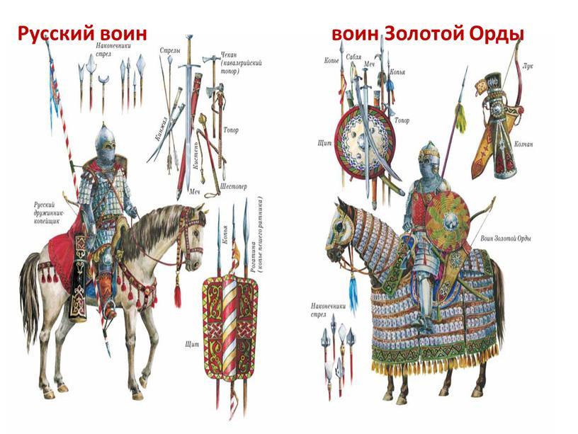 Русский воин воин Золотой Орды