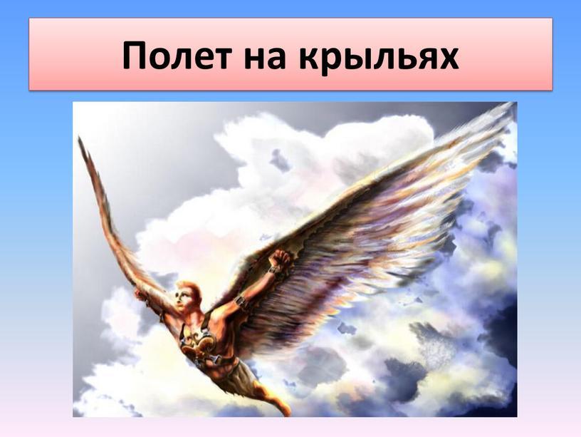 Полет на крыльях
