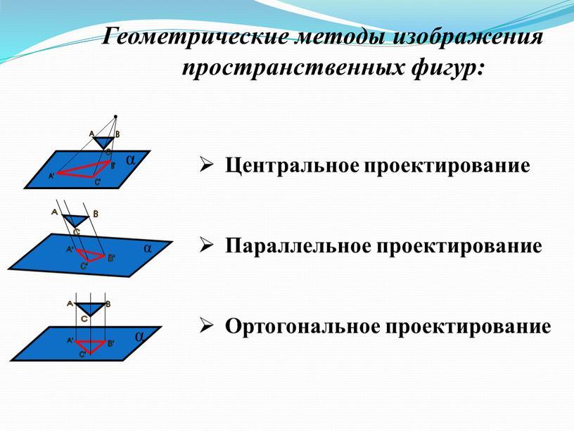 Геометрические методы изображения пространственных фигур:
