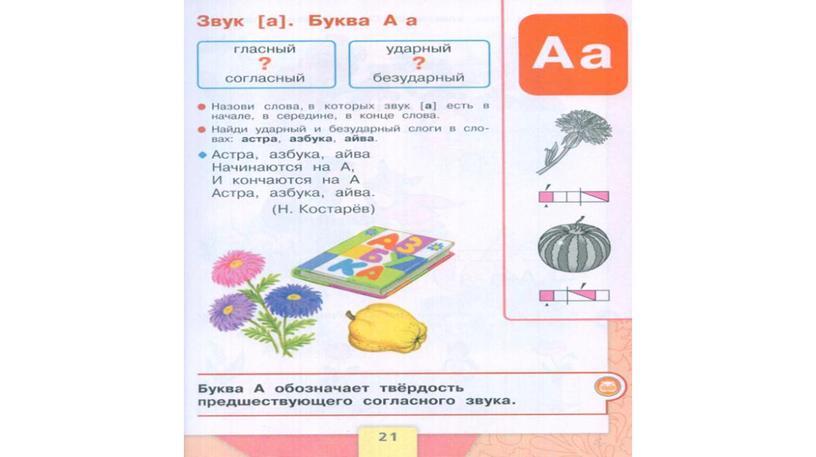 Буквы Аа и звук а