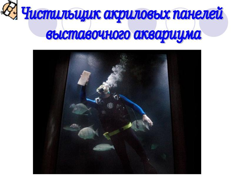Чистильщик акриловых панелей выставочного аквариума