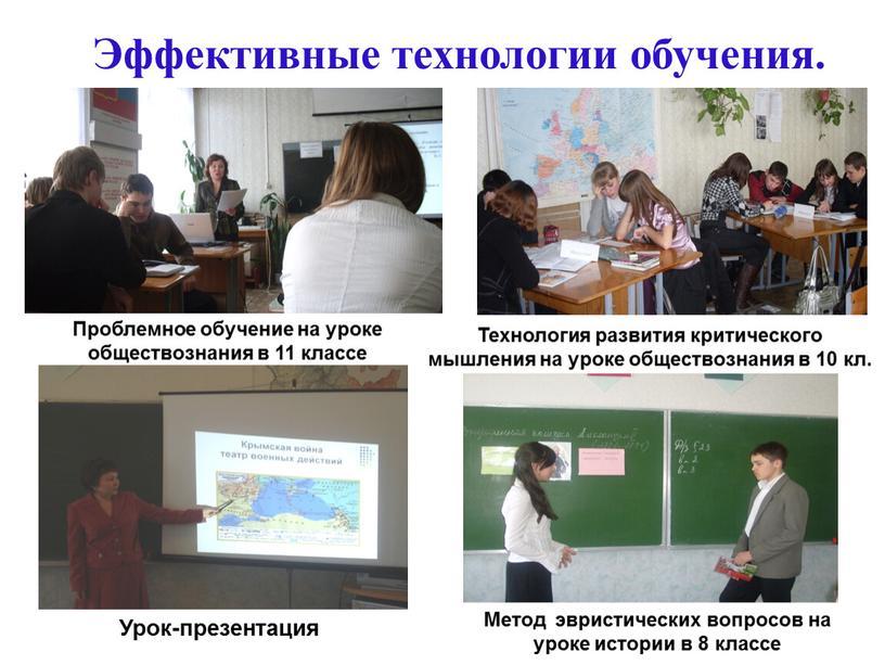Эффективные технологии обучения