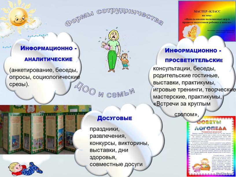 Формы сотрудничества ДОО и семьи