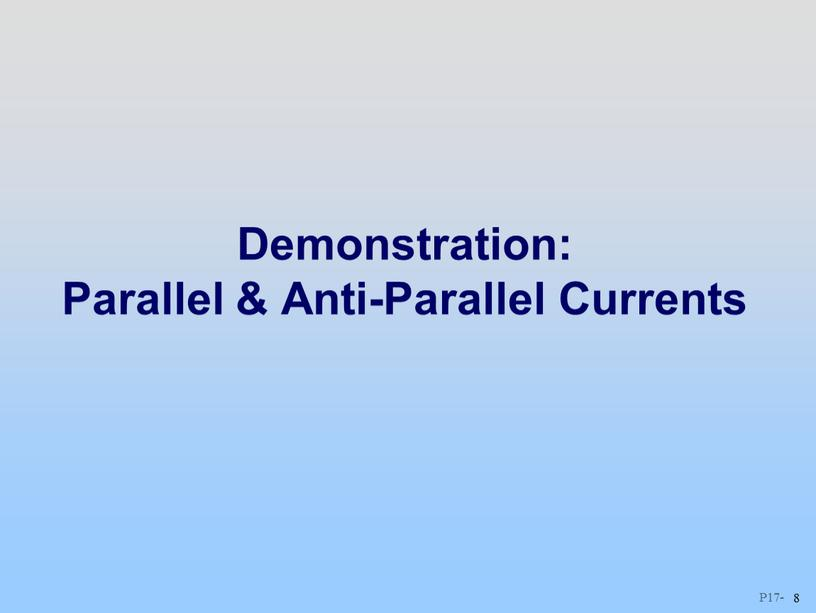 Demonstration: Parallel & Anti-Parallel