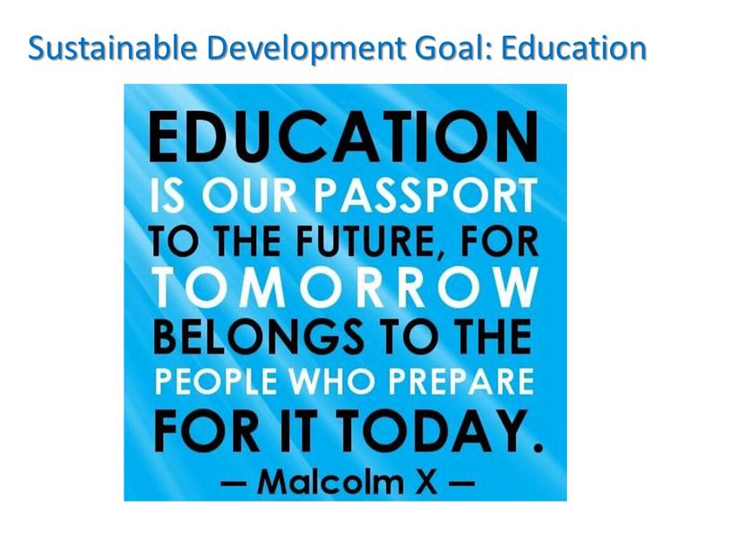 Sustainable Development Goal: Education