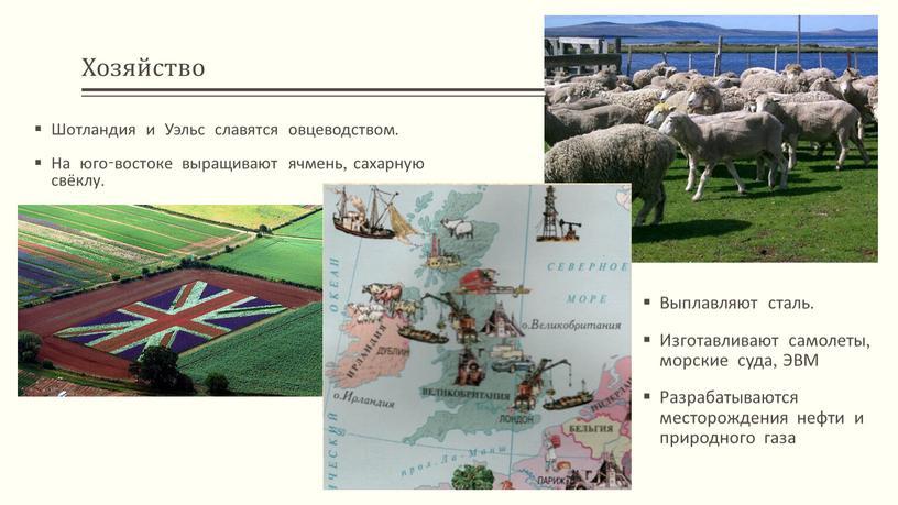 Хозяйство Шотландия и Уэльс славятся овцеводством
