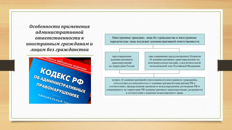 Особенности применения административной ответственности к иностранным гражданам и лицам без гражданства 123