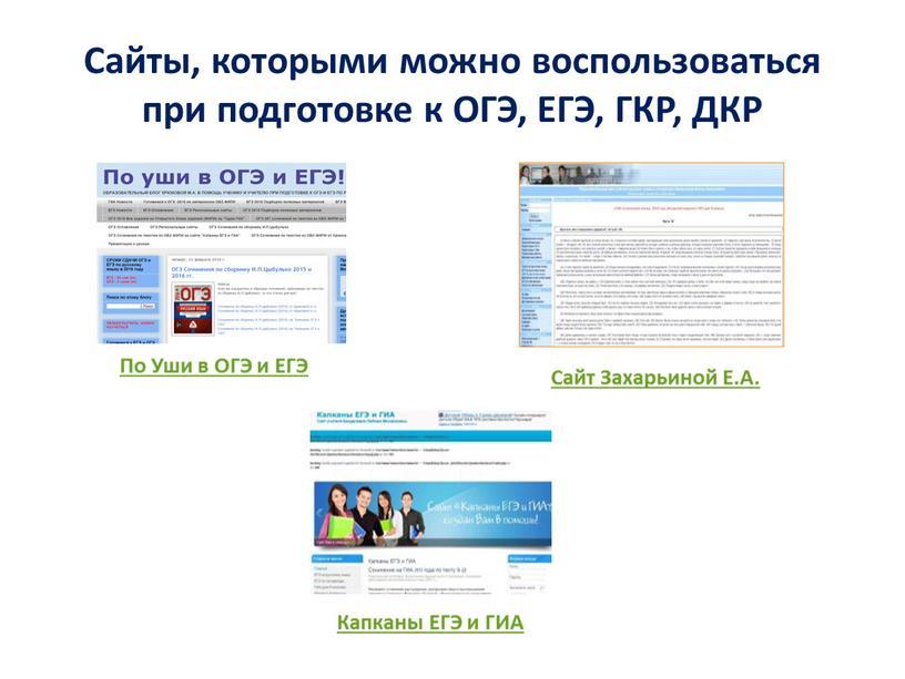 Сайты, которыми можно воспользоваться при подготовке к