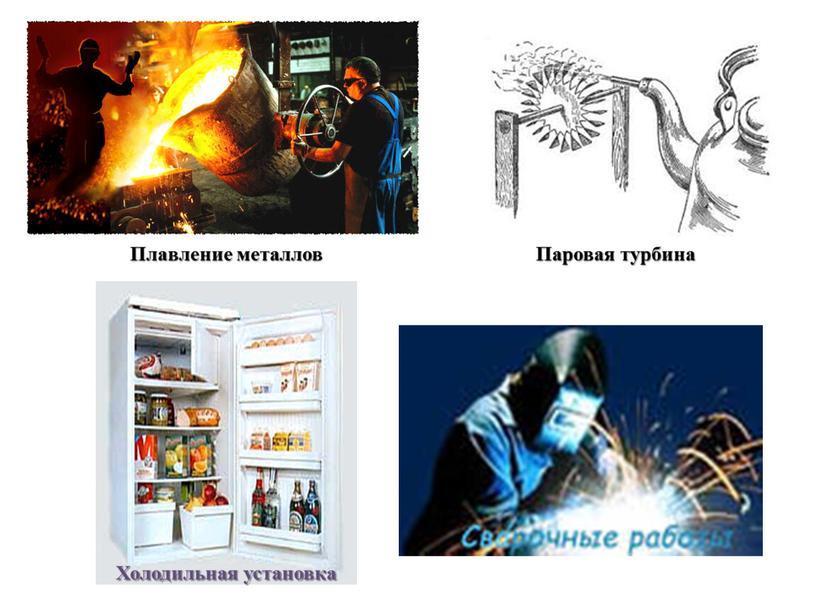 Плавление металлов Холодильная установка