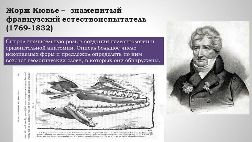Жорж Кювье – знаменитый французский естествоиспытатель (1769-1832)
