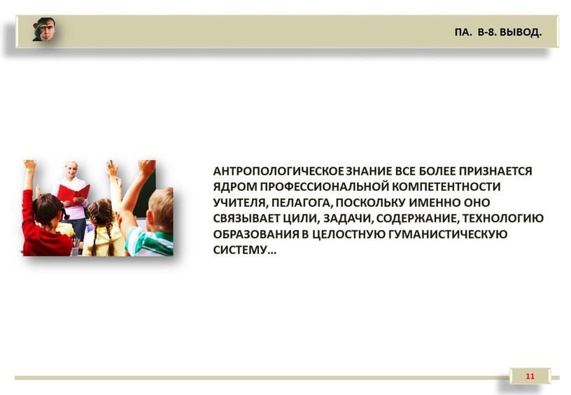 ПА. В-8. ВЫВОД. АНТРОПОЛОГИЧЕСКОЕ