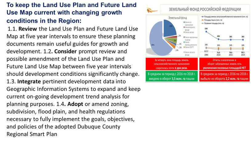 To keep the Land Use Plan and Future