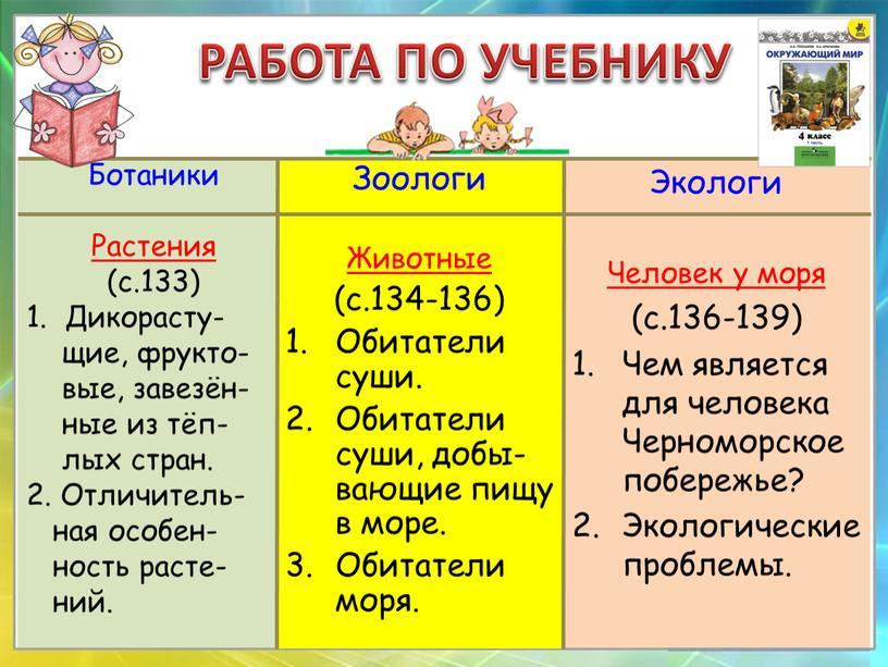 Ботаники Растения (с.133) 1.