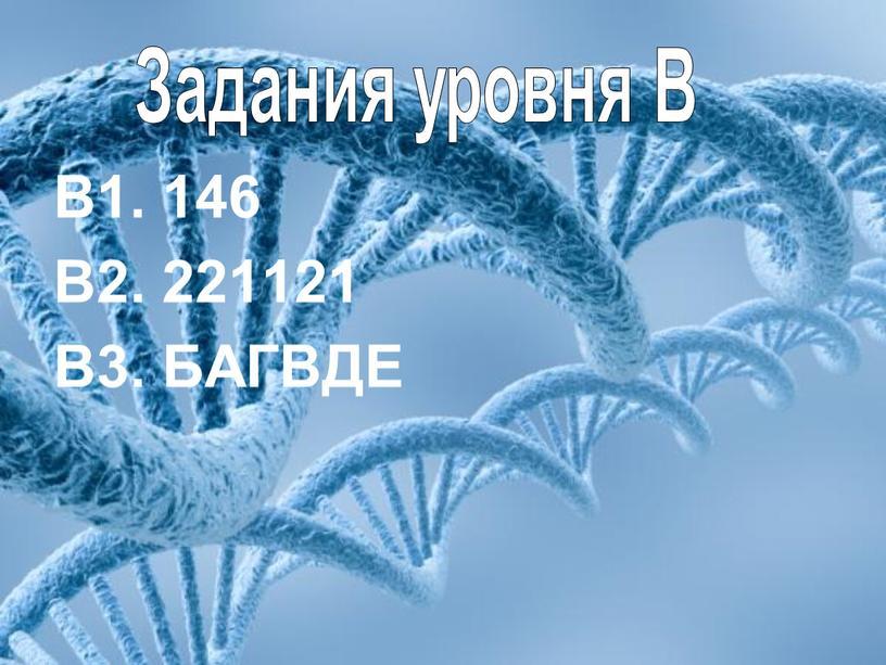 В1. 146 В2. 221121 В3. БАГВДЕ