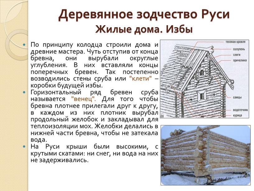 Деревянное зодчество Руси Жилые дома