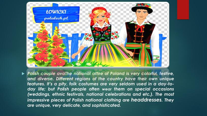 Polish couple avaThe national attire of