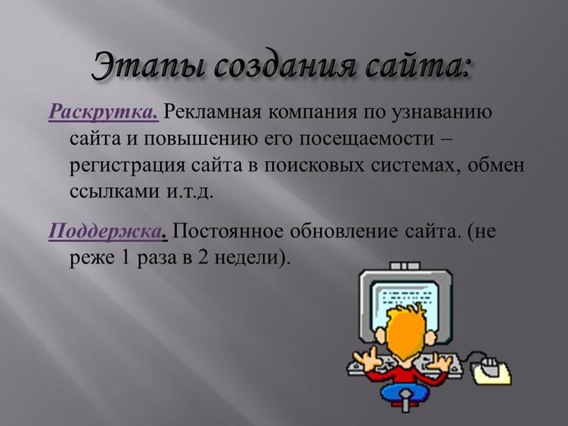 Шаги по созданию своего сайта социальное продвижение сайтов