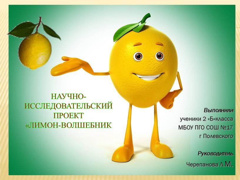 Научно-исследовательский проект «Лимон-волшебник