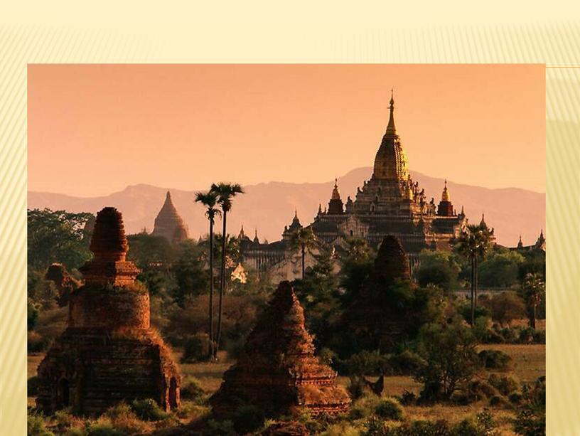 Храм будды в бирме