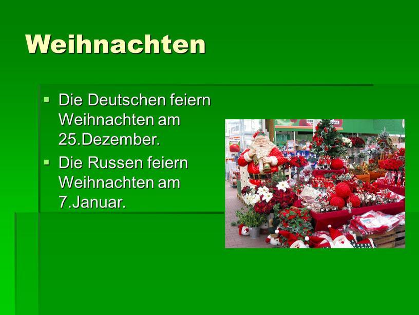 Weihnachten Die Deutschen feiern