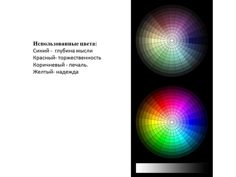 Использованные цвета: Синий - глубина мысли