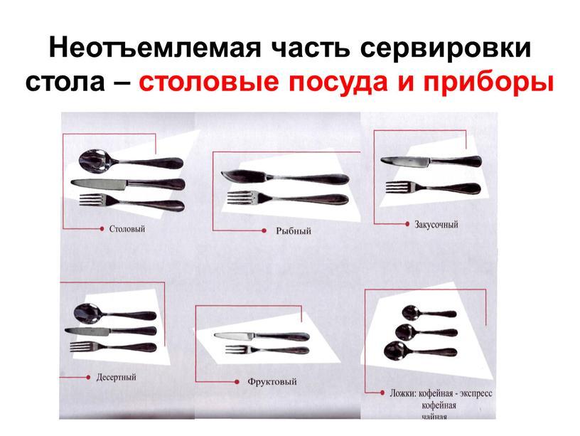 Неотъемлемая часть сервировки стола – столовые посуда и приборы
