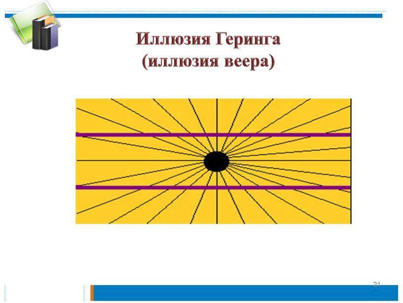 Иллюзия Геринга (иллюзия веера) 21
