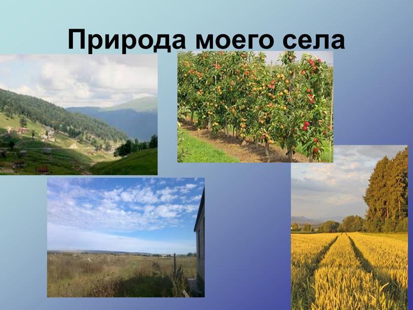 Природа моего села