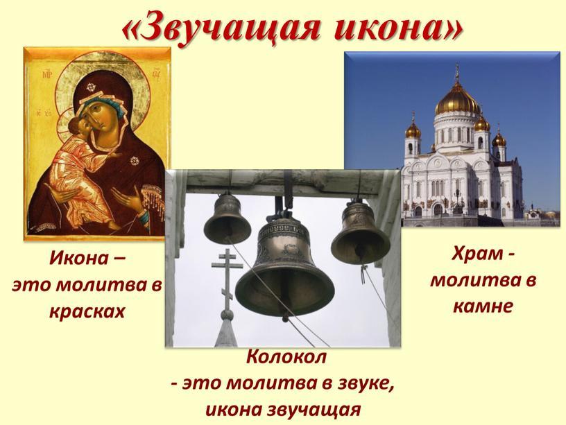 Звучащая икона» Икона – это молитва в красках
