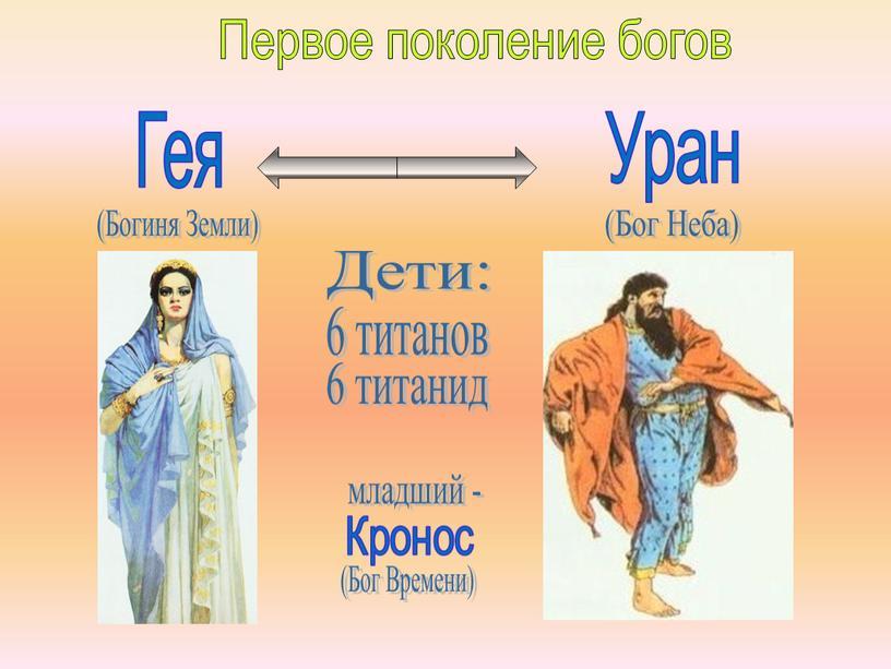Первое поколение богов (Богиня