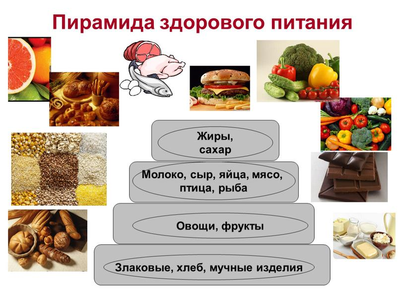 Пирамида здорового питания Злаковые, хлеб, мучные изделия